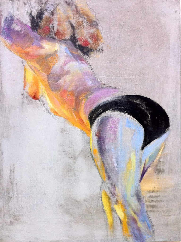 Aphrodite's Arsch - oilpainting by cornelia es said