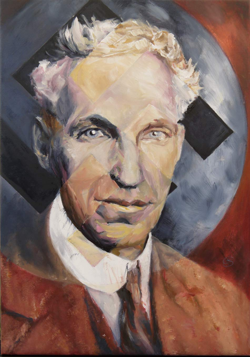 Mr. Henry Ford - oilpainting by cornelia es said