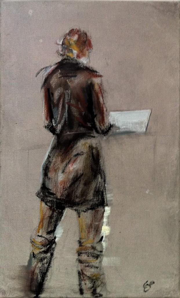 modern woman - oilpainting by cornelia es said