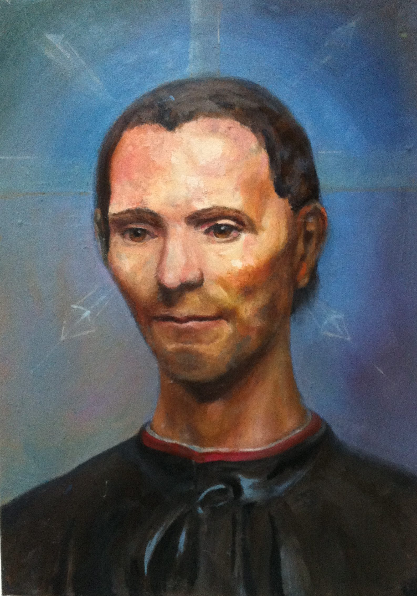 niccoló machiavelli - oil portrait by cornelia es said