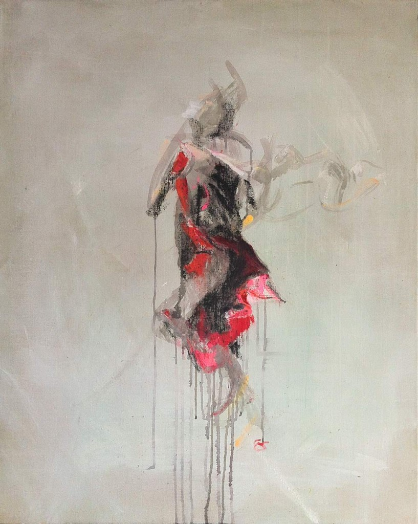 Water Dancer, minimalist oilpainting by cornelia es said