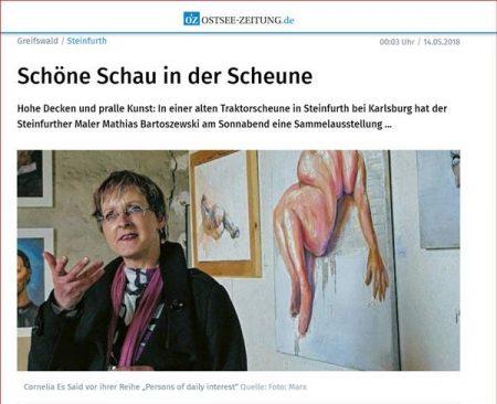 Ostseezeitung: Schöne Schau in der Scheune