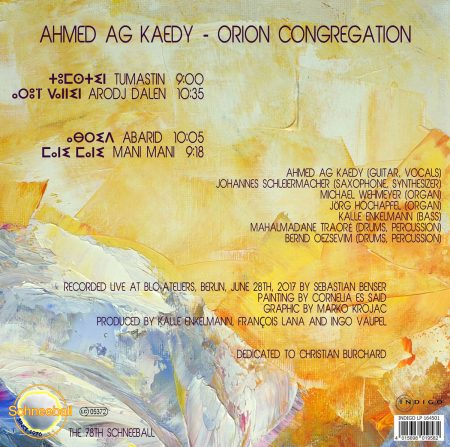 Orion Congregation Cover Art by cornelia es said - back
