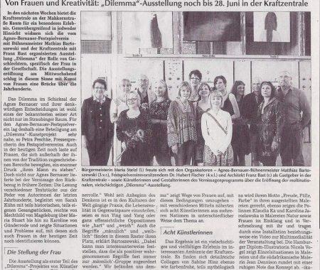 Read more about the article Straubinger Rundschau: Kunst gegen das Raster