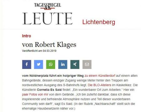 Read more about the article Cornelia Es Said im Tagesspiegel
