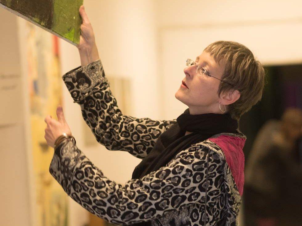 cornelia es said: Ausstellung in den B.L.O. Ateliers. Foto von Mohamed Bardane